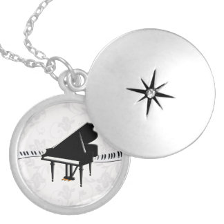 Piano Keyboard Silver Plated Necklace