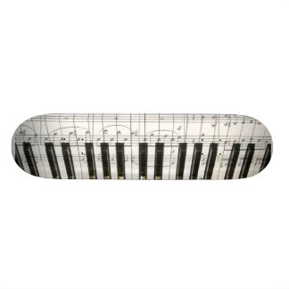 Piano Keyboard Skate Board Deck