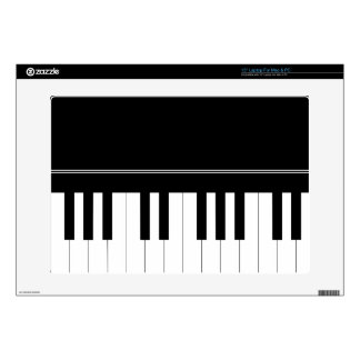 Piano keyboard decal for laptop