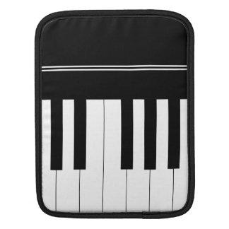 Piano keyboard sleeve for iPads