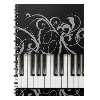Piano Keyboard Spiral Notebook