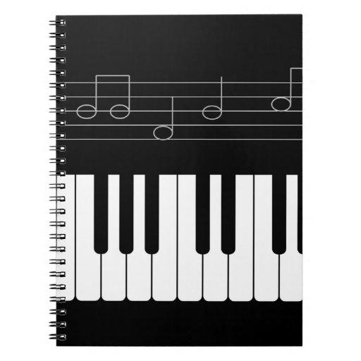 Piano keyboard spiral notebooks