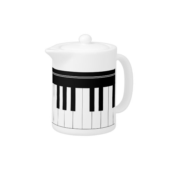 Piano keyboard teapot
