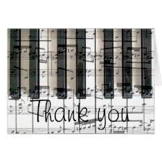 Piano Keyboard Thank You Card at Zazzle