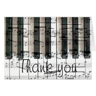 piano keyboard thank you card