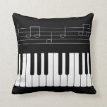 Piano keyboard throw pillows
