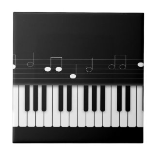 Piano keyboard ceramic tiles