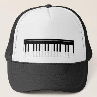 Piano keyboard trucker hat