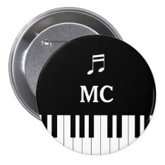 Piano Keyboard Wedding Pin Mc at Zazzle