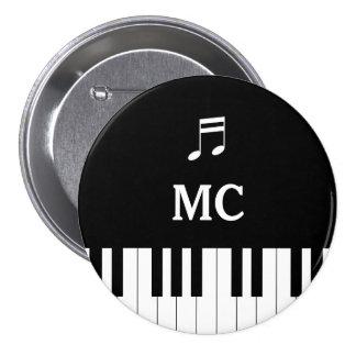Piano Keyboard Wedding Pin MC