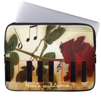 Piano Keyboard with Make A Joyful Noise Verse Laptop Sleeve