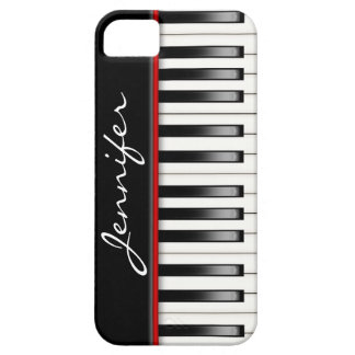 Piano Keyboard with name iPhone SE/5/5s Case