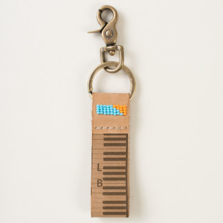 Piano Keyboard with Two Customizable Initials Keychain