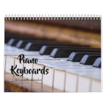 Piano Keyboards 2019 Calendar