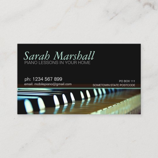 Piano keyboards music teacher business card zazzle piano keyboards music teacher business card colourmoves