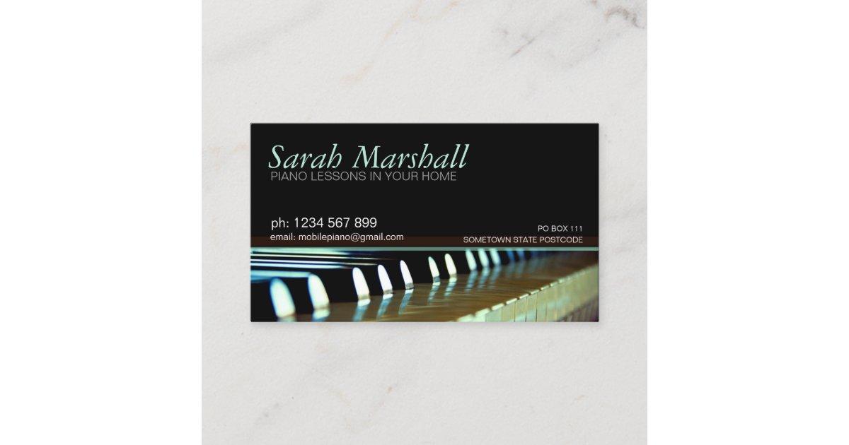 Piano Keyboards Music Teacher Business card | Zazzle.com