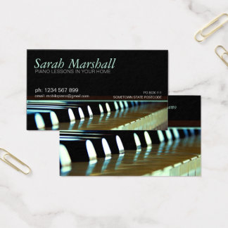 Piano Keyboards Music Teacher Business card