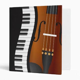 Piano Keyboards Wavy Border with Violin Binder