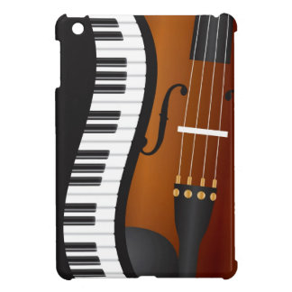 Piano Keyboards Wavy Border with Violin Case Case For The iPad Mini