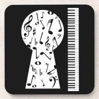 Piano Keyhole Coaster