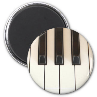 Piano Keys 2 Inch Round Magnet