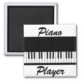 Piano Keys 2 Inch Square Magnet