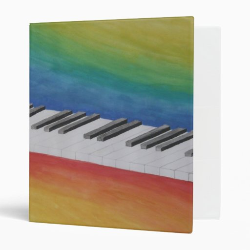 Piano Keys 3 Ring Binder