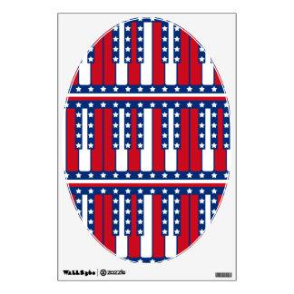 Piano Keys American Flag Pattern Wall Decal
