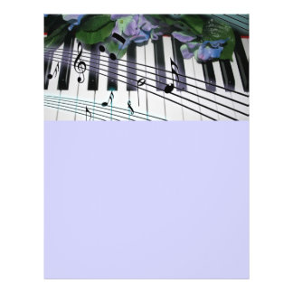 Piano Keys and Flowers Flyer