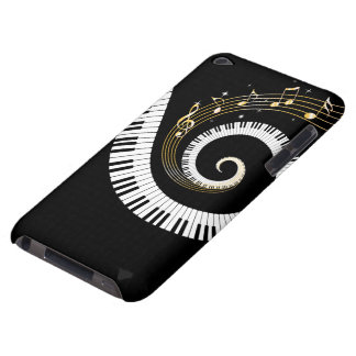 Piano Keys and Gold Music Notes Barely There iPod Cases
