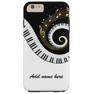 Piano Keys and Gold Music Notes Tough iPhone 6 Plus Case