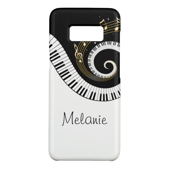 Piano Keys and Gold Music Notes Case-Mate Samsung Galaxy S8 Case