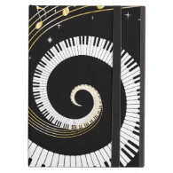 Piano Keys and Gold Music Notes iPad Covers