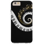 Piano Keys and Gold Music Notes iPhone 6 case
