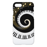 Piano Keys and Gold Music Notes iPhone 7 Case