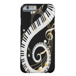 Piano Keys and Golden Music Notes Barely There iPhone 6 Case