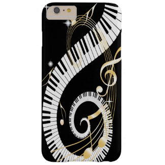 Piano Keys and Golden Music Notes Barely There iPhone 6 Plus Case