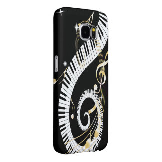 Piano Keys and Golden Music Notes Samsung Galaxy S6 Case
