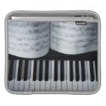 Piano Keys and Music Book iPad Sleeve