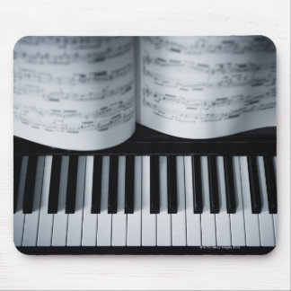 Piano Keys and Music Book Mouse Pad