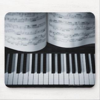 Piano Keys and Music Book Mousepad
