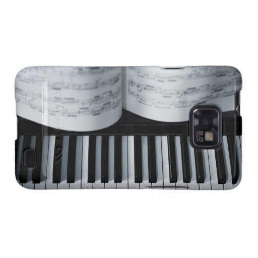 Piano Keys and Music Book Samsung Galaxy S2 Case