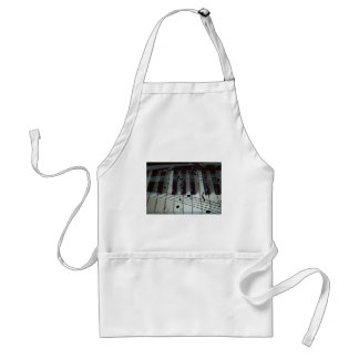 Piano Keys and Music Notes Adult Apron