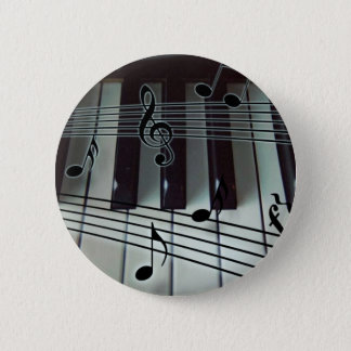 Piano Keys and Music Notes Button