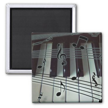 Toddler & Baby themed Piano Keys and Music Notes Magnet