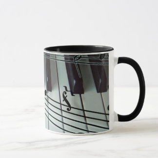 Piano Keys and Music Notes Mug