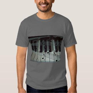 Piano Keys and Music Notes T-Shirt
