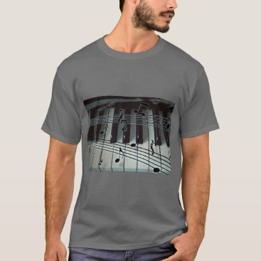 Toddler & Baby themed Piano Keys and Music Notes T-Shirt