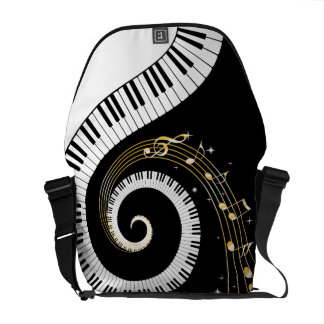 Piano Keys and  Musical Notes Courier Bags