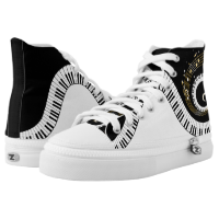 Piano Keys and  Musical Notes High-Top Sneakers